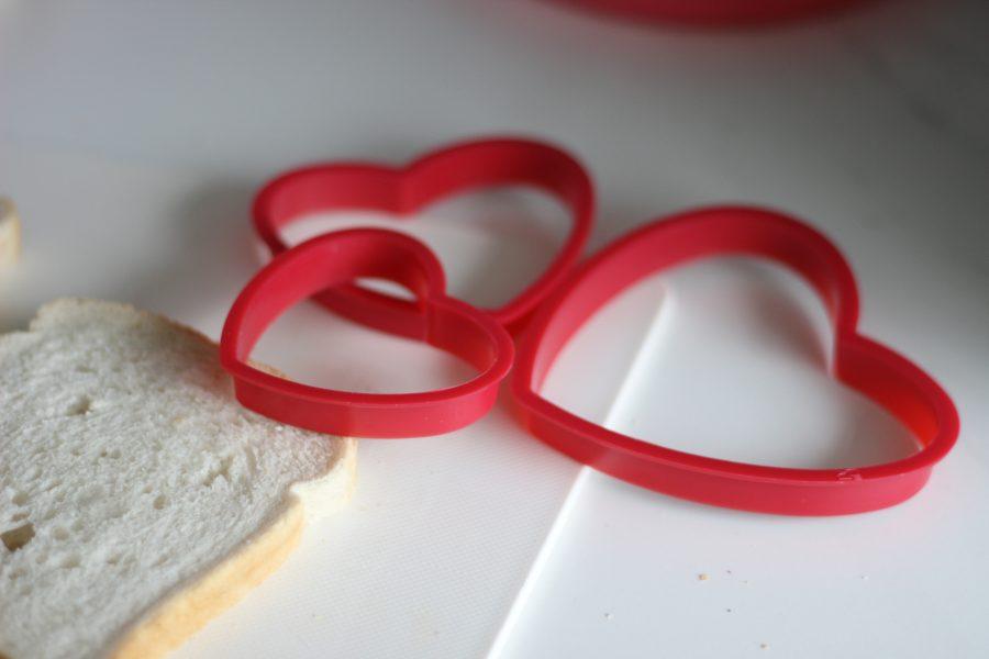 hartjes boterham voor valentijnsdag